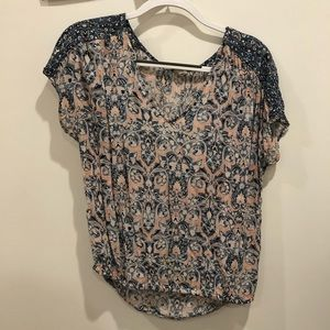 Lucky Brand business casual short sleeved top